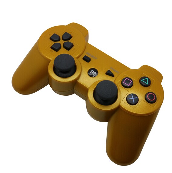 PS3 Bluetooth handle golden appearance
