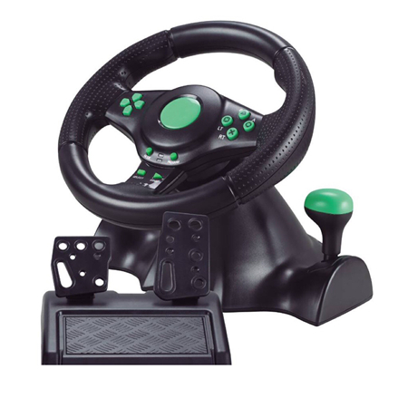 USB Game Racing Steering Wheel for PS2/PS3/PC